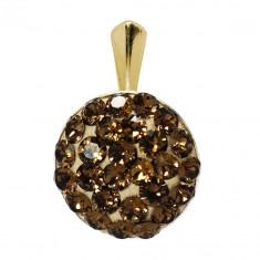 Elvira- Pandantiv Argint Placat cu Aur si Cristale Swarovski , BijouxMAG