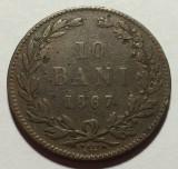 10 Bani 1867 Watt & Co, Bronz, Romania F