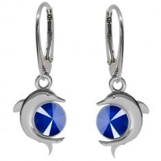 Delfin - Cercei Argint si Cristale Swarovski , BijouxMAG