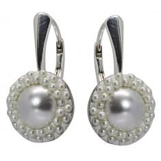 Amy - Cercei Argint si Perle Swarovski , BijouxMAG