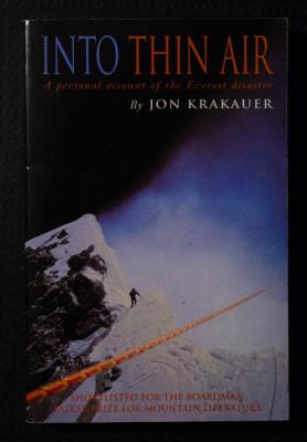 Jon Krakauer - Into Thin Air (În aerul rarefiat) foto