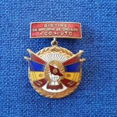 Insigna UTC - Distins cu diploma de onoare