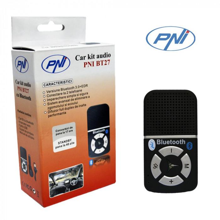 Resigilat : Car kit audio PNI BT27 cu Bluetooth