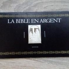JN. Biblia in argint, 26 grame, mic lingou,  argint, Europa