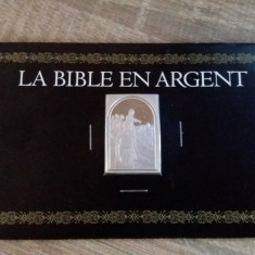 JN. Biblia in argint, 26 grame, mic lingou, piesa nr. 2, argint, Europa