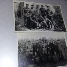 2 Fotografii vechi militari,soldati,ofiteri,subofiteri,gradati,T.GRATUIT