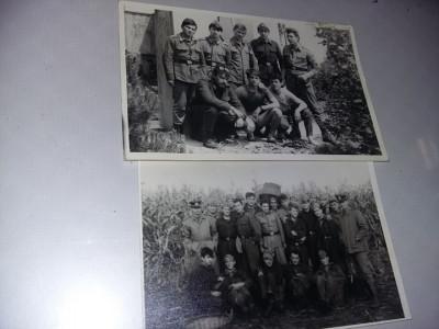 2 Fotografii vechi militari,soldati,ofiteri,subofiteri,gradati,T.GRATUIT foto