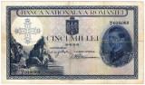 Bancnota 5000 lei 1931 supratipar 1940 serie fractie