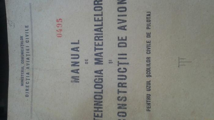 Materiale constructii avioane 1949