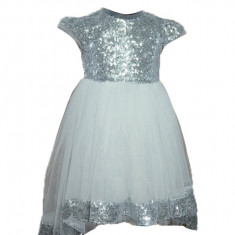 Rochita eleganta fetite Micul Vip RMV4-AR, Argintiu