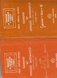 Elemente de analiza matematica pentru clasa a XII-a, Mircea Ganga, Vol1 si 2