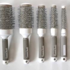 Set kit 5 perii nanoceramice rotunde coafor frizerie profesionale perie par