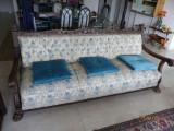 Set canapea si doua fotolii, stil florentin, gri bleu