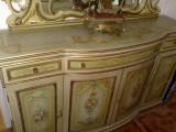 Comoda pictata,vintage,stil baroc venetian,Italia,inceput secol xx, Comode si bufete, 1900 - 1949
