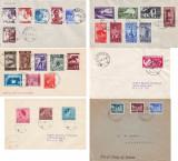 1935-1940 Romania - Lot 6 plicuri cu stampila prima zi, precursori FDC, Carol II, Romania 1900 - 1950, Regi