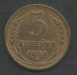 RUSIA  URSS  3  COPEICI  KOPEIKI  1954  [2]   livrare in cartonas, Europa, Bronz-Aluminiu