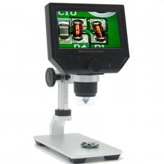 Microscop Digital cu Afișaj și Stand foto