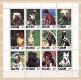 KOMI 2001 - RASE DE CAINI, BLOC  NESTAMPILAT, PT30