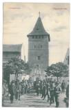 4299 - SALONTA, Bihor, Romania, Market - old postcard - used - 1911, Circulata, Printata