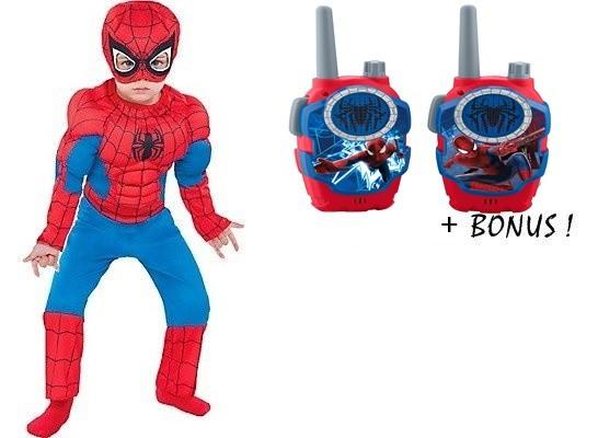 """PROMOTIE! COSTUM SPIDERMAN""""CU MUSCHI"""",BONUS 2 STATII EMISIE RECEPTIE SPIDERMAN!"""