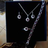 Set argint 925 cu pietre Zultanite