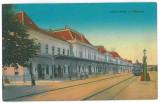 4316 - ORADEA, Railway Station, Romania - old postcard - used - 1916, Circulata, Printata