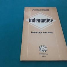 ÎNDRUMĂTOR* PRODUCEREA FURAJELOR/1983