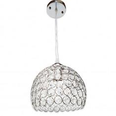 Cumpara ieftin Lustra Julia 6130 argintiu, cristal,inaltime ajustabila 30-80, dulie e27,fi 22cm