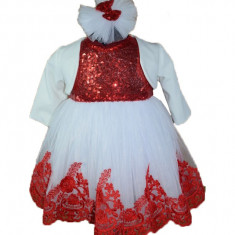 Rochita eleganta fetite Micul Vip RMV12-RO, Rosu