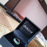 Vand inel de aur 14k smaralde naturale și diamante