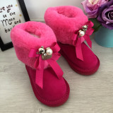 Cumpara ieftin Cizme roz imblanite ursulet funda pt fete copii 22 23 27 28 29 31 32 33 34 GGM
