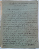 Manuscris Emil Garleanu , 6 foi , semnat si datat 1906