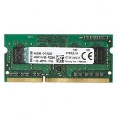 Memorie Laptop SODIMM Kingston 4GB DDR3 PC3L-12800S 1600Mhz 1.35V, 4 GB, 1600 mhz