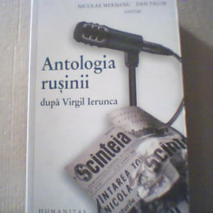 ANTOLOGIA RUSINII DUPA VIRGIL IERUNCA { Humanitas, 2009 }