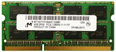 Memorii Laptop Micron 4GB DDR3 PC3L-12800S 1600Mhz 1.35V foto