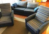 Canapea 3 locuri extensibila si 2 fotolii recliner