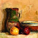 """Tablou OTTO BRIESE """"Natură statică cu vase de lut"""" ulei pe carton, 41 x 33 cm datat 1958, semnat dreapta jos Briese - OTTO BRIESE"""