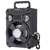 Boxa Portabila Bluetooth, AUX, USB, CARD, RADIO FM bass foarte puternic Negru cu Lumini disco