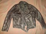 Geaca piele naturala, barbati, model Rock/Rocker/Moto/Motor/vintage/clasic/negru, 52