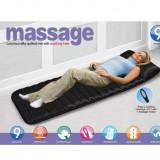 Saltea masaj cu telecomanda si incalzire, ideala pentru momentele de relaxare