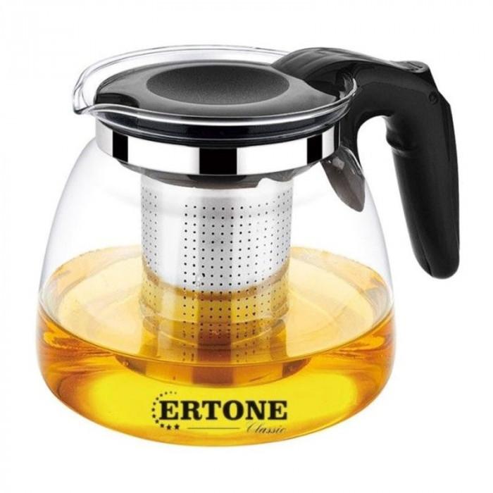 Ceainic sticla cu infuzor Ertone, 900 ml