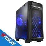 Sistem desktop Game ON Powered by ASUS Intel Core i3-8100 Quad Core 3.6 GHz 8GB DDR4 AMD Radeon RX 550 4GB DDR5 1TB HDD FreeDOS Black