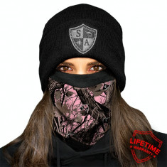 Thermal Fleece FaceShield - Pink Forest Camo , captusite cu lana, made in USA