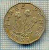 11494 MONEDA - MAREA BRITANIE - THREE PENCE - ANUL 1937  -STAREA CARE SE VEDE