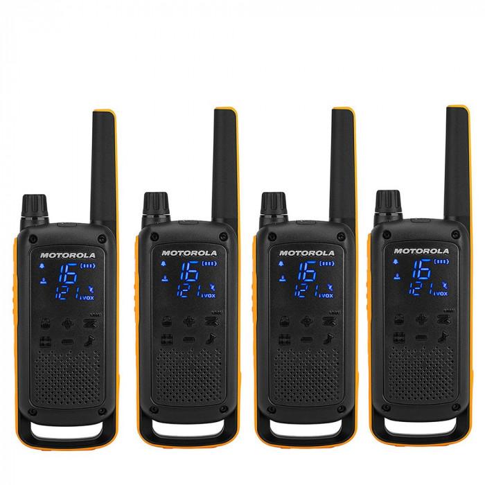Resigilat : Statie radio PMR portabila Motorola TALKABOUT T82 Extreme Quad set cu