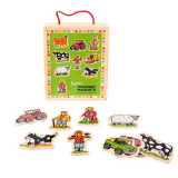 Set magnetic - Animalutele de la ferma, Bigjigs