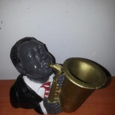 Saxophone/Saxofon Jazz Singer figurina ceramica