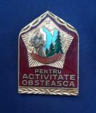 Insigna Pentru activitate obsteasca - CCS Turist - Turism - Rara