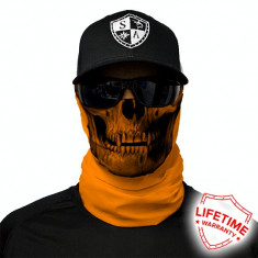 Bandana/Face Shield/Cagula/Esarfa - Tactical | Orange Skull, made in USA