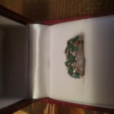 Vand inel cu smaralde si diamante